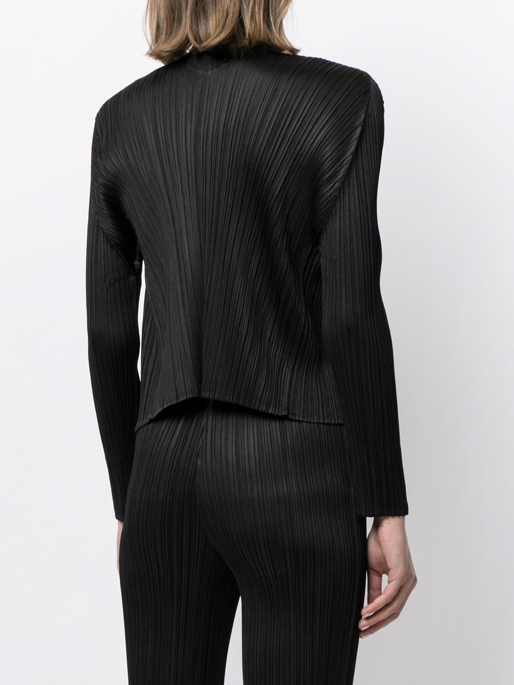 PLEATS PLEASE ISSEY MIYAKE WOMEN PLEATED CARDIGAN