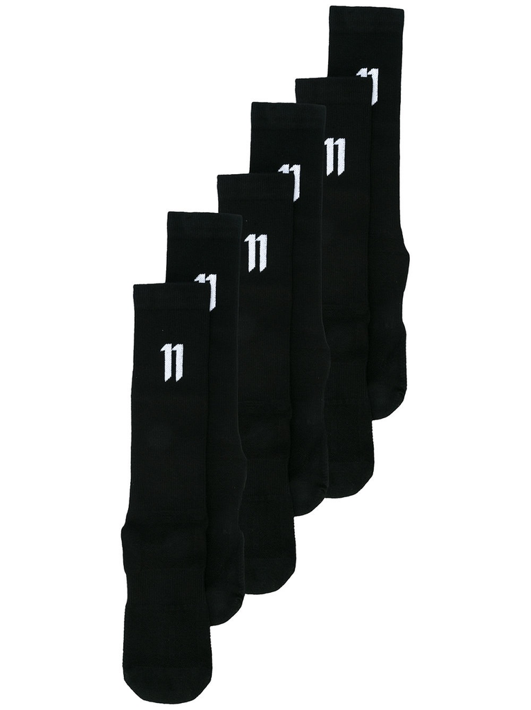 11 BY BORIS BIDJAN SABERI MEN LOGO SOCKS 3 PACK