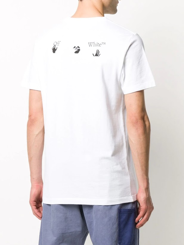 OFF-WHITE MEN BIG OW LOGO S/S SLIM TEE