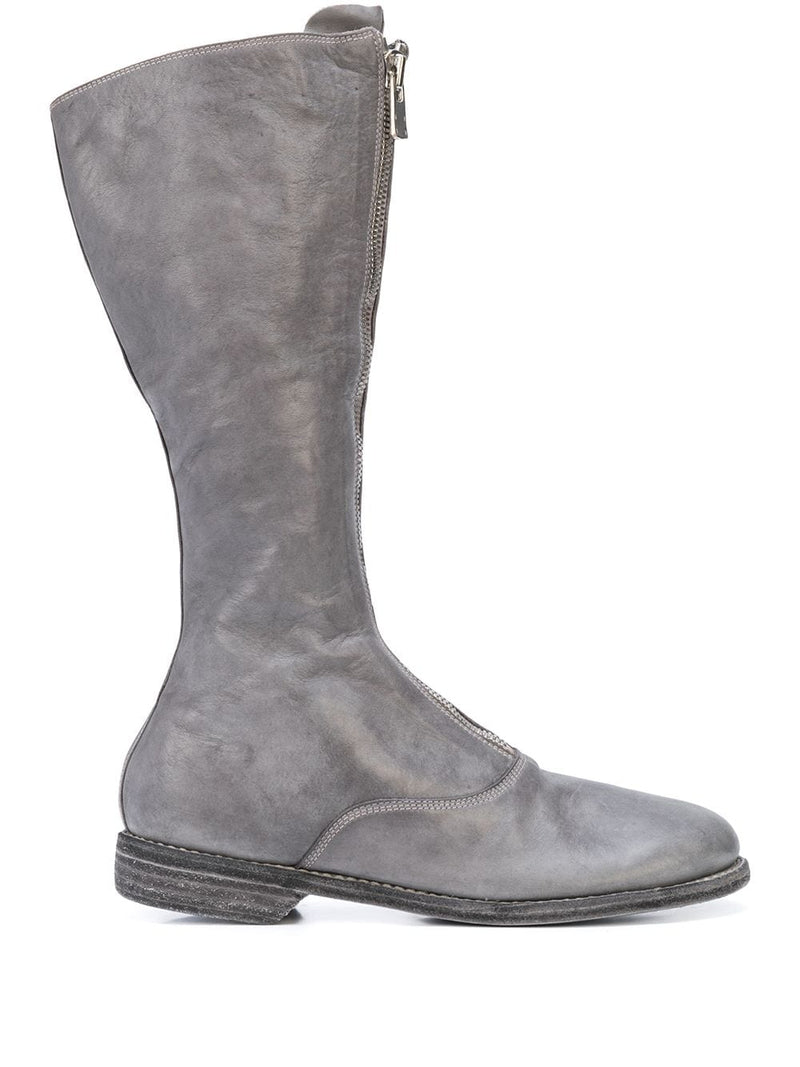 GUIDI WOMEN SOFT HORSE LEATHER 410 FRONT ZIP TALL BOOTS