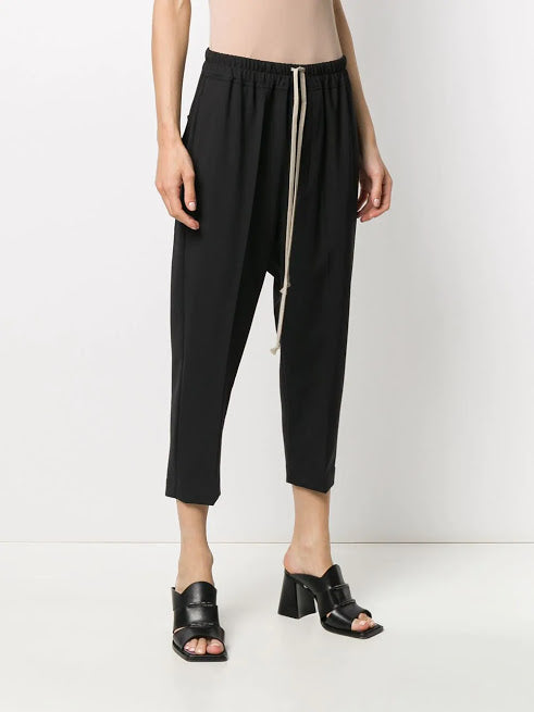 RICK OWENS WOMEN DRAWSTRING CROPPED ASTAIRES PANTS