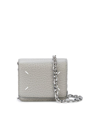 MAISON MARGIELA WOMEN STITCH LOGO CHAIN MINI BAG