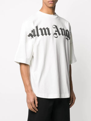 PALM ANGELS MEN FRONT LOGO OVER TEE