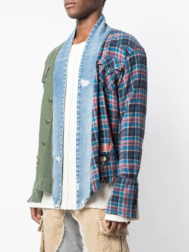 GREG LAUREN MEN 50/50 KIMONO STUDIO ARMY BAKER / COUNTY FAIR