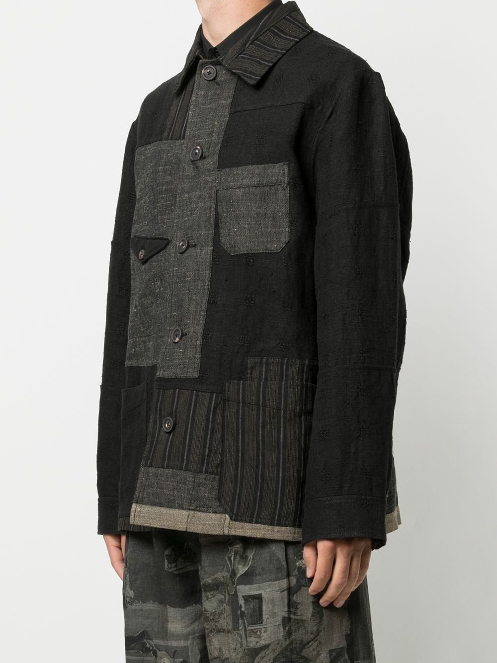 ZIGGY CHEN MEN COLLAGE COVERALL JACKET