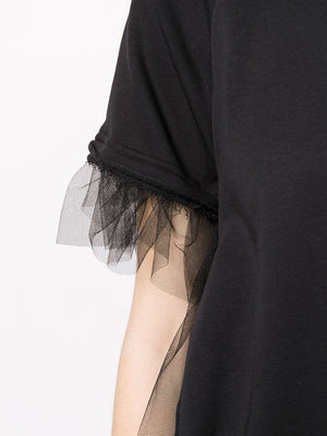 MM6 WOMEN MESH DETAIL T-SHIRT
