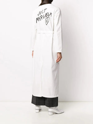 MM6 WOMEN LOGO PRINTED LAB COAT