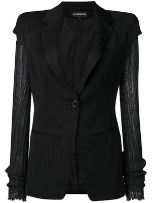 ANN DEMEULEMEESTER WOMEN JACKET OBERON BLACK + ASHGATE ANTHRACITE 1802-1042-165-099
