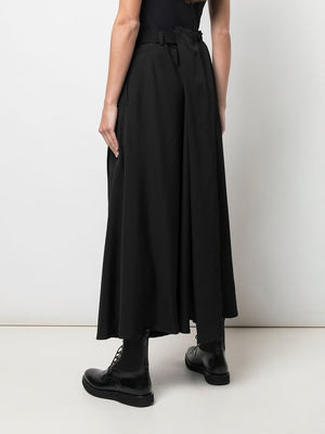 YOHJI YAMAMOTO WOMEN RIGHT WRAP SKIRT PANTS