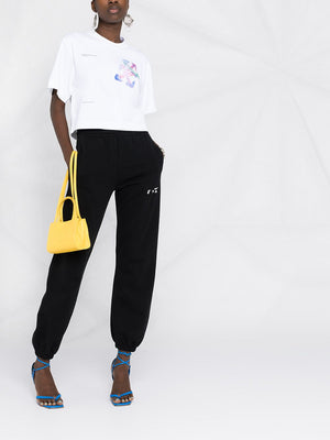 OFF-WHITE WOMEN WATERCOLOR ARROWS CROPPED TEE