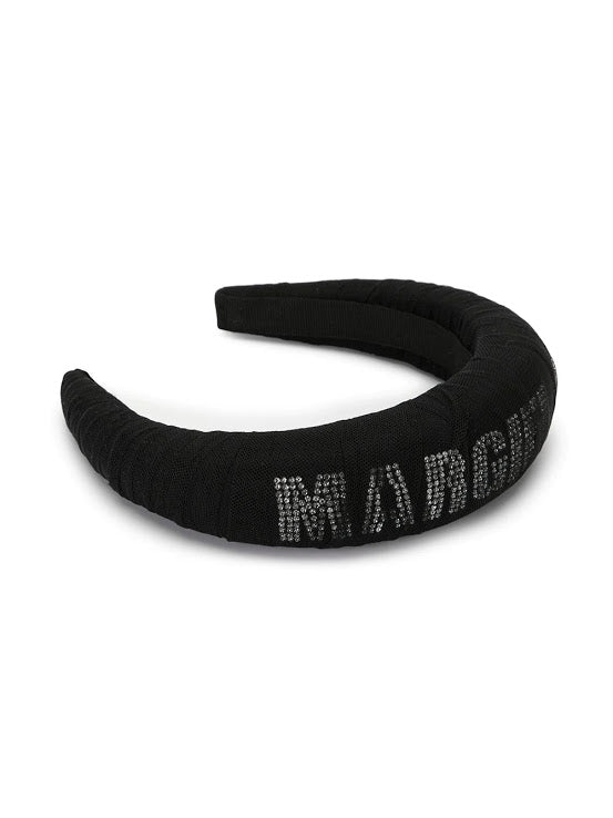 MM6 WOMEN CRYSTAL LOGO HAIRBAND