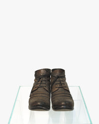 LAYER-0 MEN REVERSE CORDOVAN LEATHER GOODYEAR ANKLE BOOT
