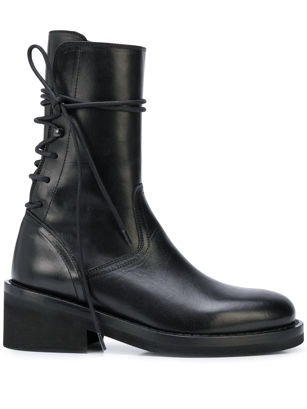 ANN DEMEULEMEESTER CLASSIC BACK LACE UP BOOTS
