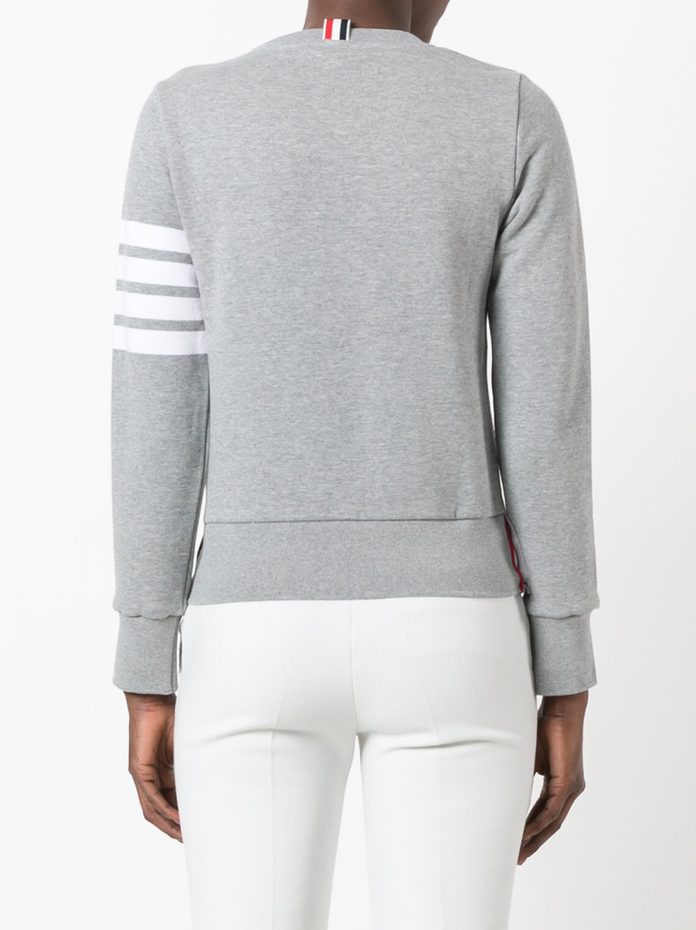THOM BROWNE WOMENS CLASSIC SWEATSHIRT IN CLASSIC LOOP WITH ENGINEERED 4 BAR