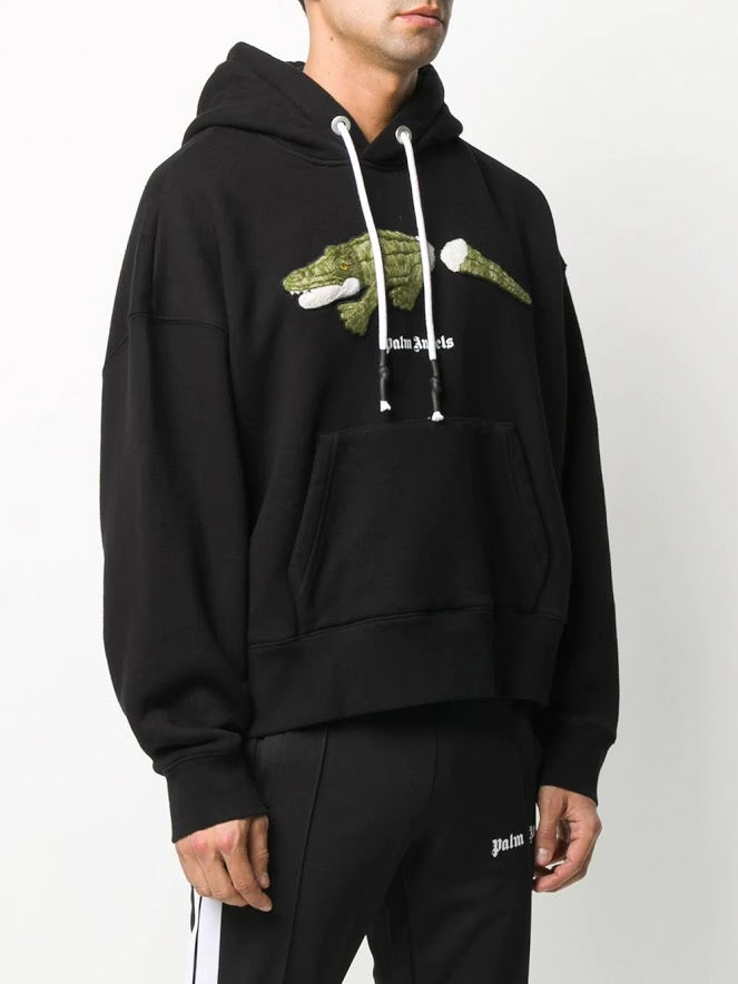 PALM ANGELS MEN CROCO HOODIE