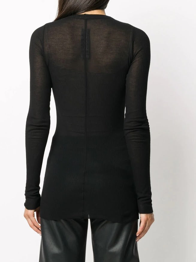 RICK OWENS WOMEN LONG SLEEVE RIB TEE