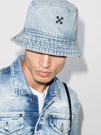 OFF-WHITE DENIM BUCKET HAT