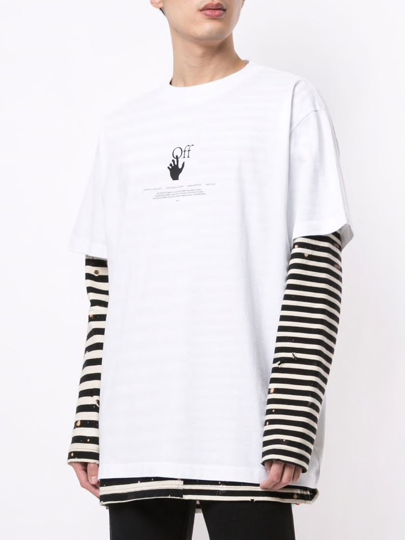 OFF-WHITE MEN WHITE OFFF GRAFF S/S OVER TEE WHITE HIGH RISE