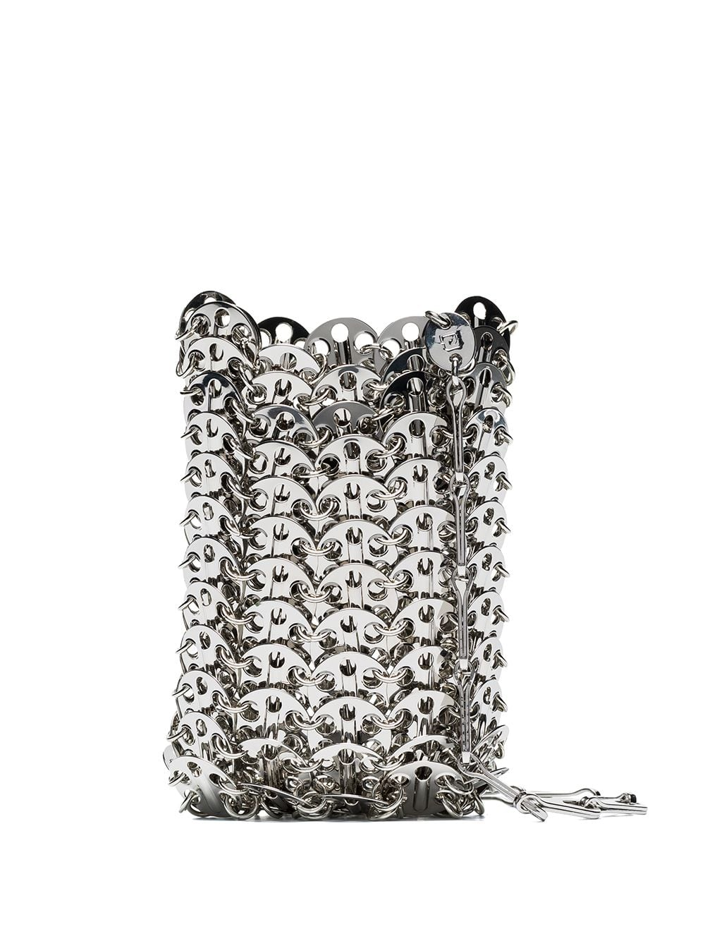 PACO RABANNE WOMEN MINI 1969 ICONIC METALLIC DISC BAG