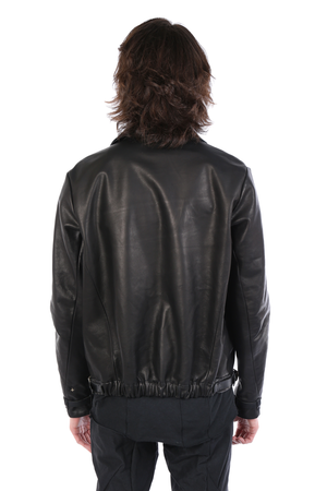MA+ MEN LEATHER BOMBER JACKET