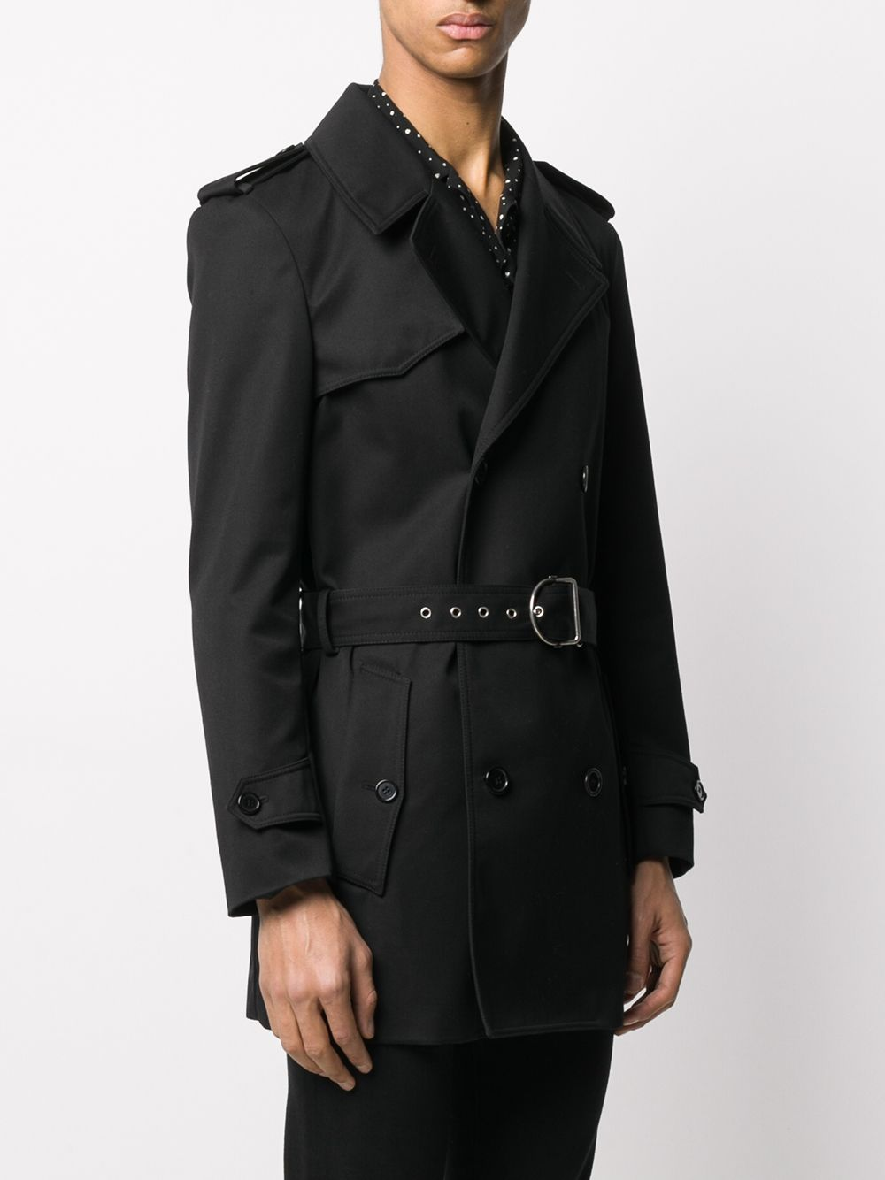 SAINT LAURENT MEN DOUBLE FACE TRENCH COAT
