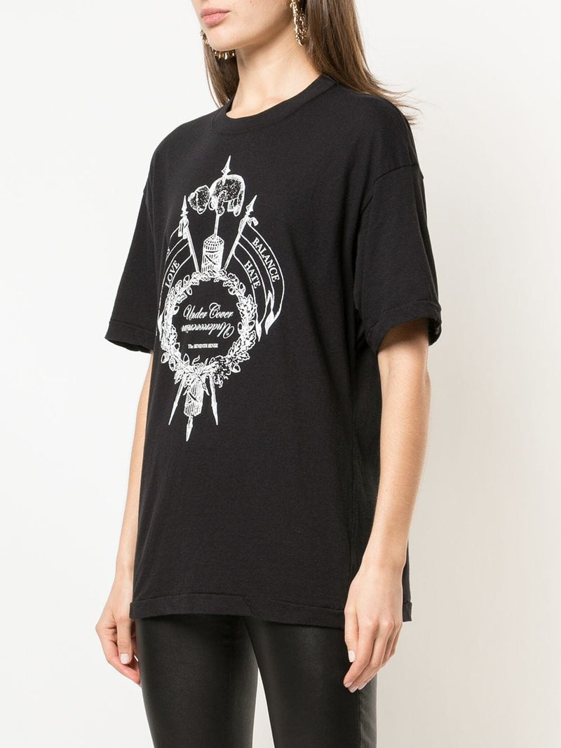 UNDERCOVER WOMEN THE SEVENTH SENSE PRINTED T-SHIRT