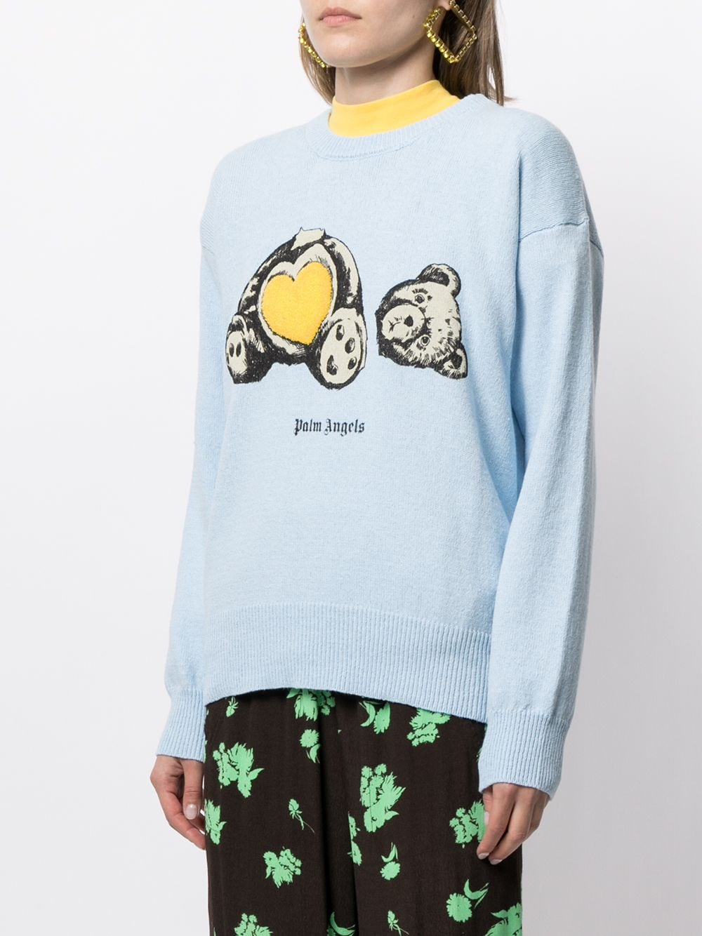 PALM ANGELS WOMEN BEAR IN LOVE SWEATER