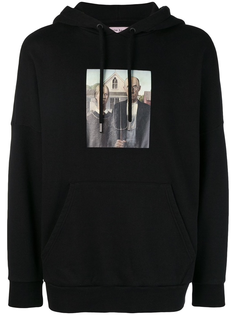PALM ANGELS MEN AMERICAN GOTHIC OVER HOODIE