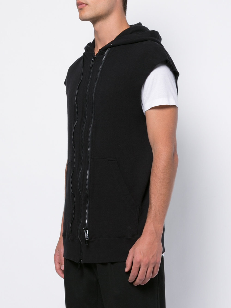 UNDERCOVER MEN THE SLEEVELESS VESH-CHES HOODIE