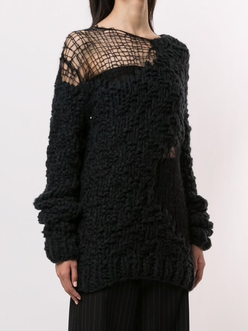 ANN DEMEULEMEESTER WOMEN HANDKNITTED SWEATER