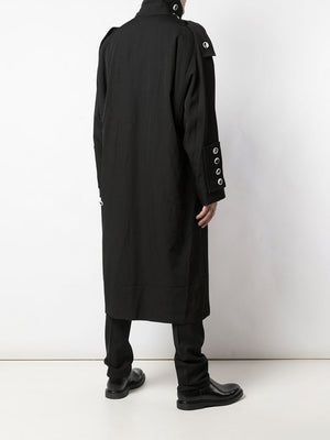 YOHJI YAMAMOTO POUR HOMME MEN WHITE BUTTON TRANSFORM SLEEVE COAT
