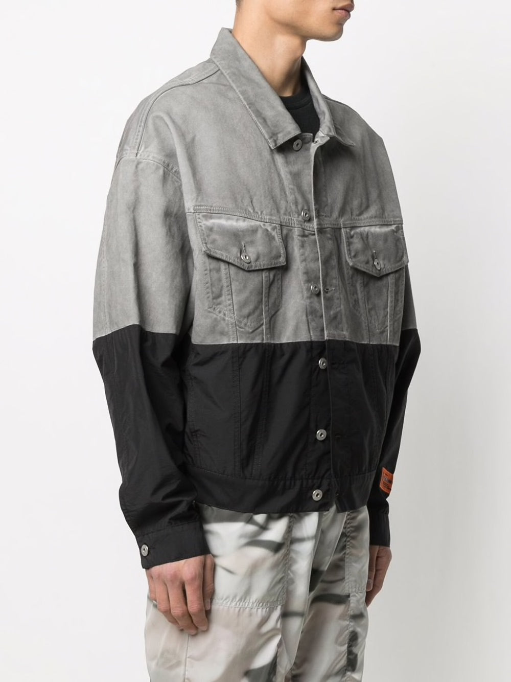 HERON PRESTON MEN DENIM NYLON OVER TRUCKER