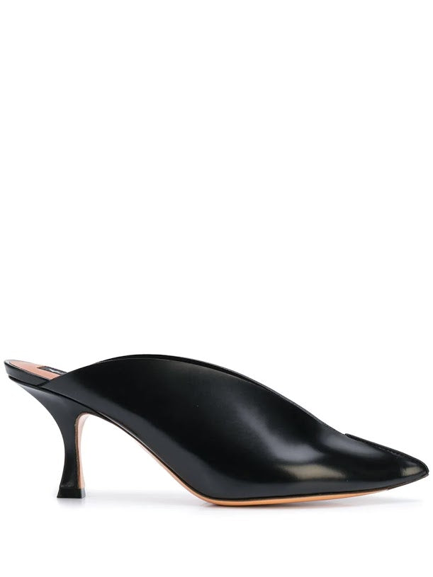Y/PROJECT WOMEN LEATHER MULE