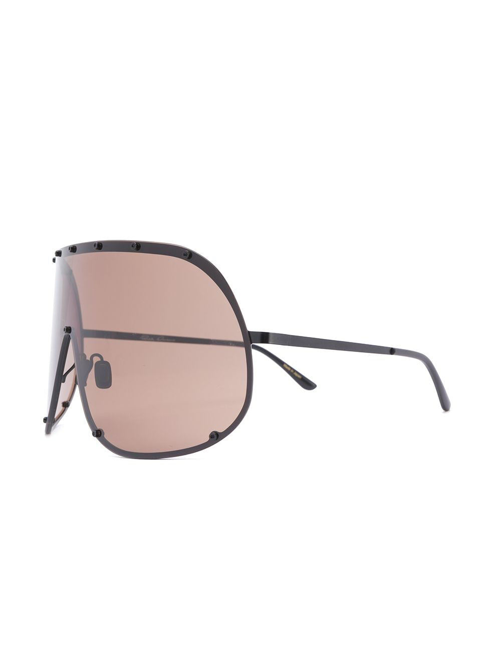 RICK OWENS SHIELD SUNGLASSES GBLKBR
