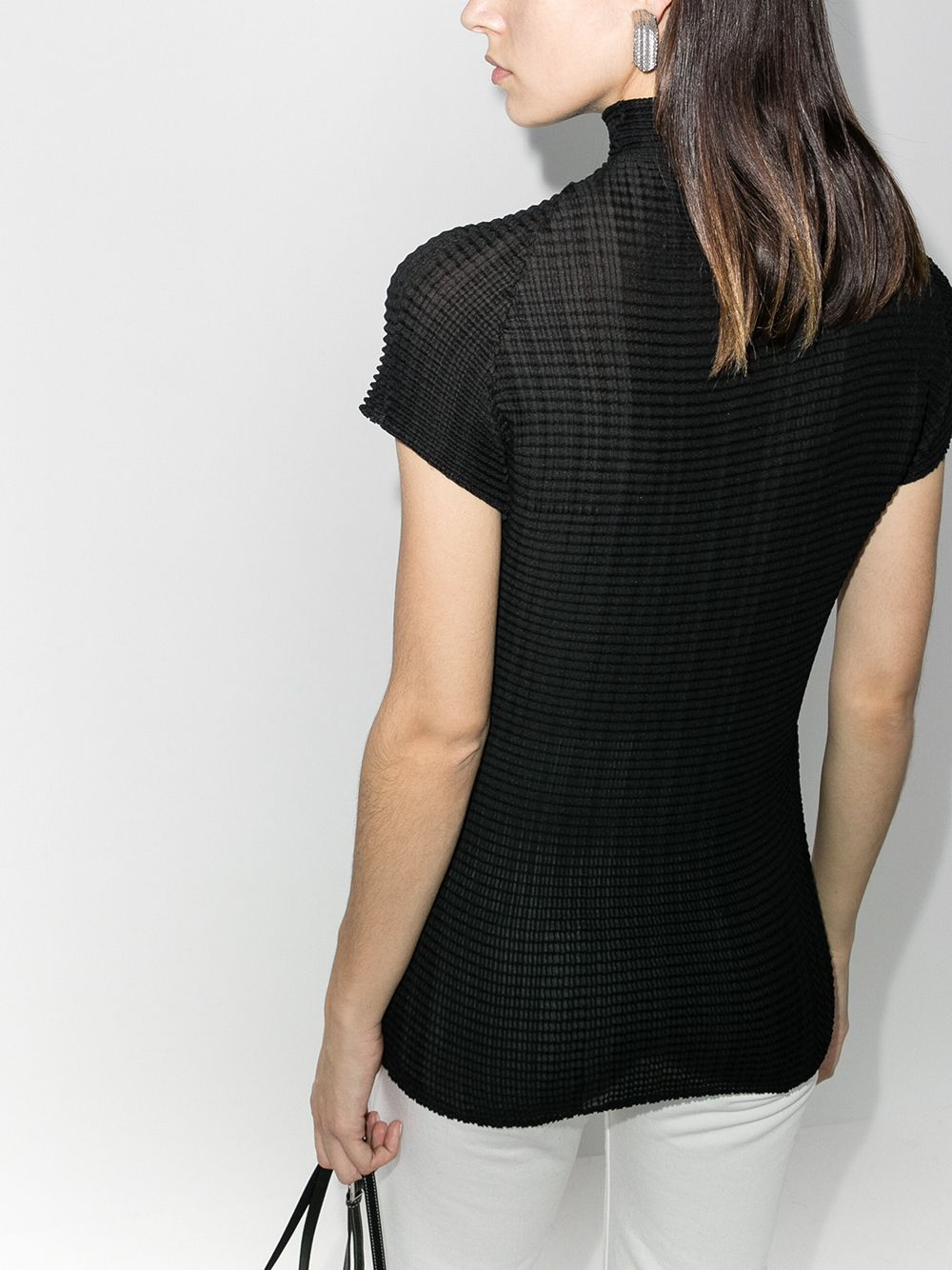 ISSEY MIYAKE WOMEN WOOLY PLEATS TOP