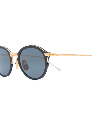 THOM BROWNE DITA EYEWEAR TB-110 BLACK IRON - YELLOW GOLD WITH DARK GREY - AR