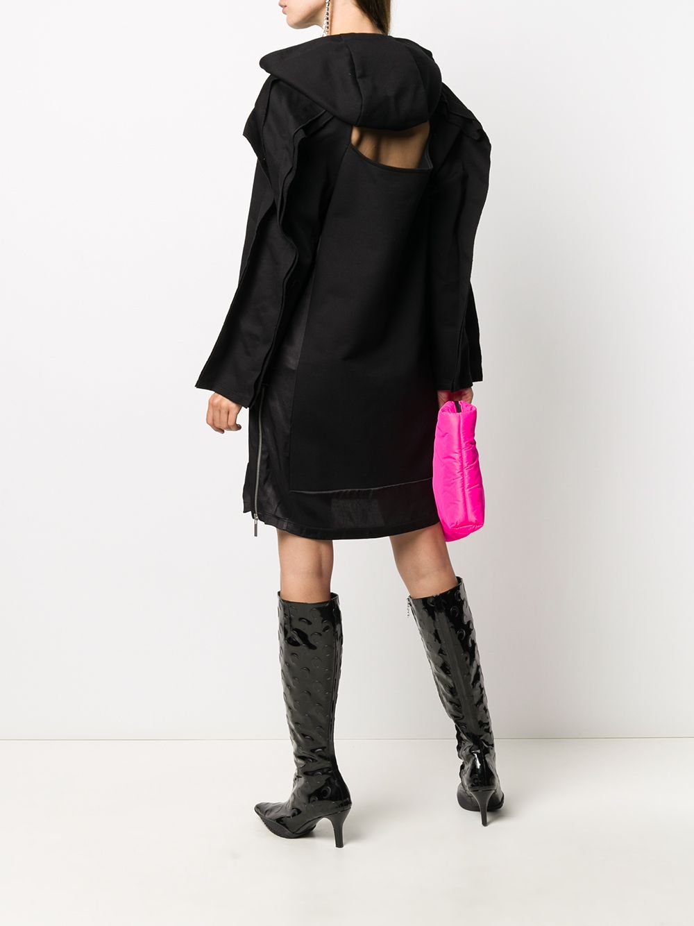 KOCHE WOMEN LONG HOODED DRESS