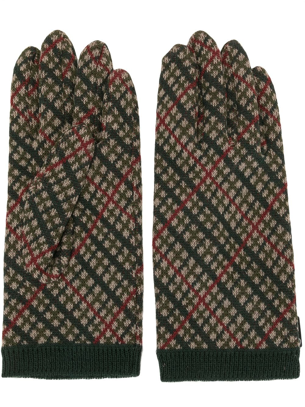 UNDERCOVER  MEN KNITED CHECK GLOVES