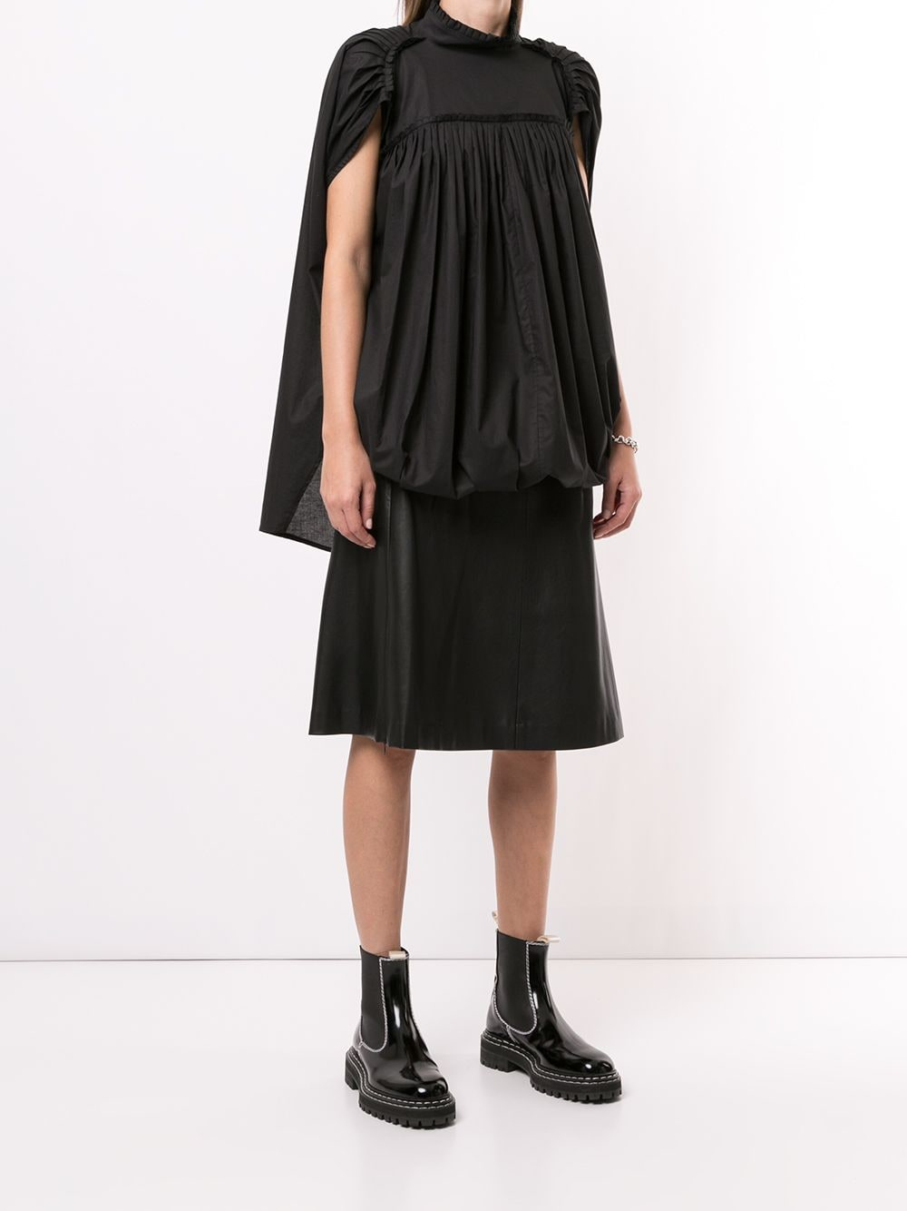 ANN DEMEULEMEESTER WOMEN PLEATED RIBBON TOP