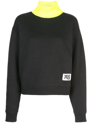ALEXANDER WANG WOMEN CREWNECK WITH KNITTED NECK TRIM
