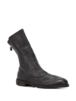 GUIDI WOMEN 311 SOFT HORSE FG BACK ZIP ARMY BOOTS