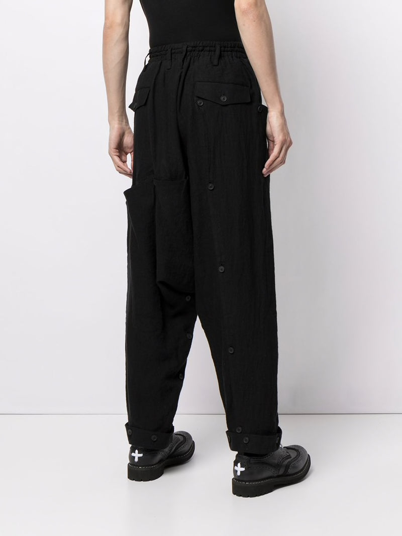 YOHJI YAMAMOTO POUR HOMME BELT COVER CROPPED PANTS
