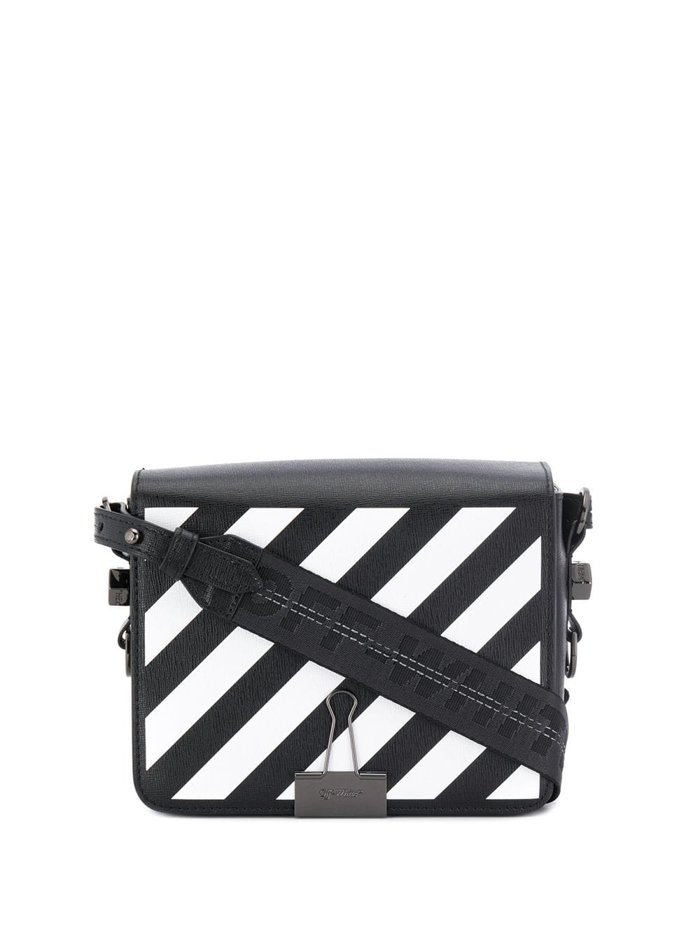 OFF-WHITE WOMEN DIAG FLAP BAG