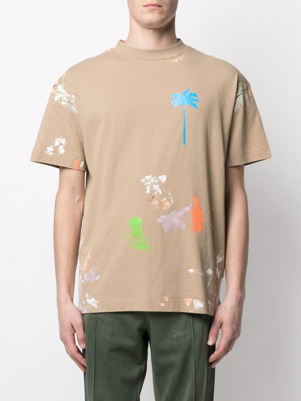 PALM ANGELS MEN PALM X PALM PAINTED CLASSIC TEE