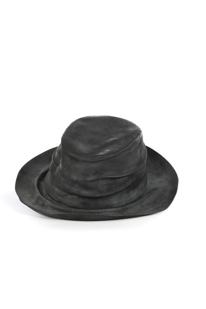 LAYER-0 WIDE RIM HORSE LEATHER HAT
