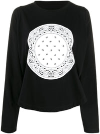 MM6 WOMEN OVERSIZE PRINT L/S  T-SHIRT