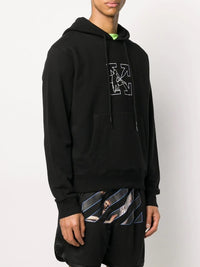 OFF-WHITE MEN OW LOGO WORKERS SLIM HOODIE