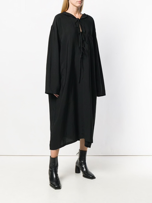 Y'S WOMEN HOODED DRESS