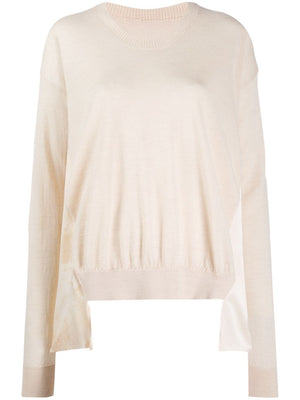UMA WANG WOMEN LONG SLEEVE KNIT V TOP