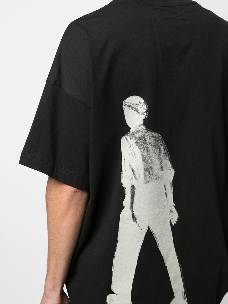 ZIGGY CHEN MEN DROP SHOULDER BACK GRAPHIC T-SHIRT